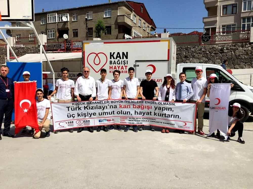 Ülkeleri için kan vererek, destek oldular