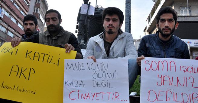 Üniversiteliler Soma faciasıyla ilgili oturma eylemi başlattı