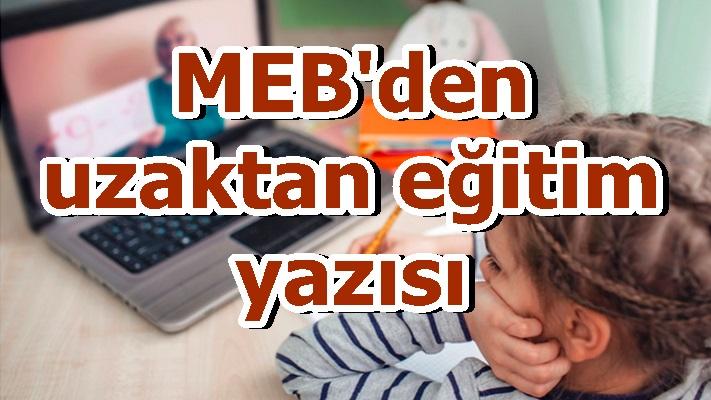 MEB'den uzaktan eğitim yazısı