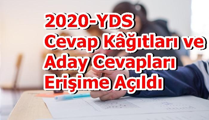 2020-YDS Cevap Kâğıtları ve Aday Cevapları Erişime Açıldı