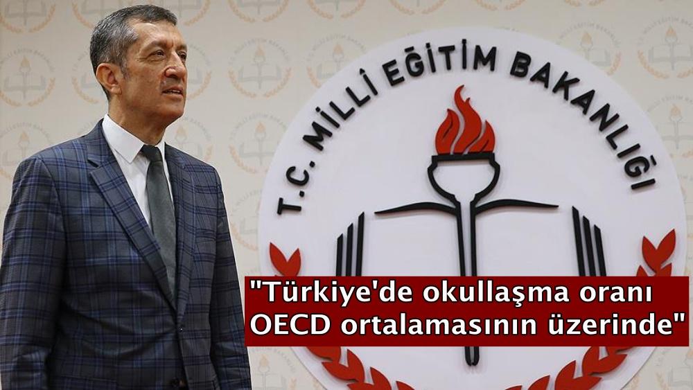 """""""Türkiye'de okullaşma oranı OECD ortalamasının üzerinde"""""""