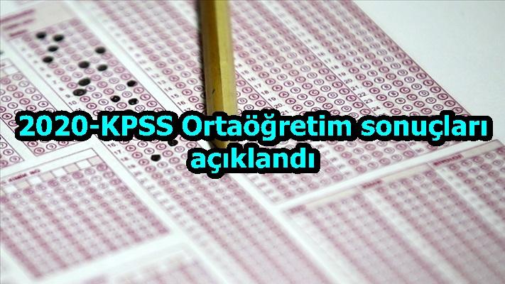 2020-KPSS Ortaöğretim sonuçları açıklandı