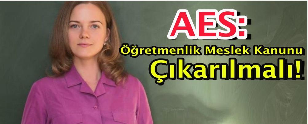 AES: Öğretmenlik Meslek Kanunu Çıkarılmalı, Tüm Paydaşlardan Görüş Alınmalı!