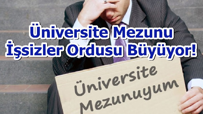 Üniversite Mezunu İşsizler Ordusu Büyüyor!