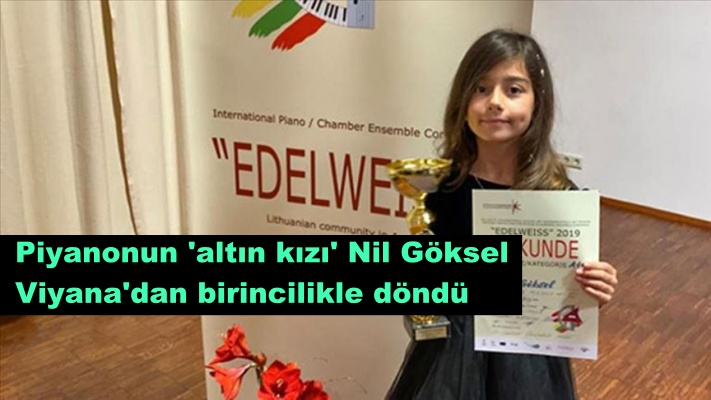 Piyanonun 'altın kızı' Nil Göksel Viyana'dan birincilikle döndü