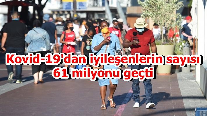 Kovid-19'dan iyileşenlerin sayısı 61 milyonu geçti