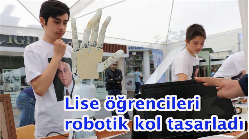 Lise öğrencileri robotik kol tasarladı