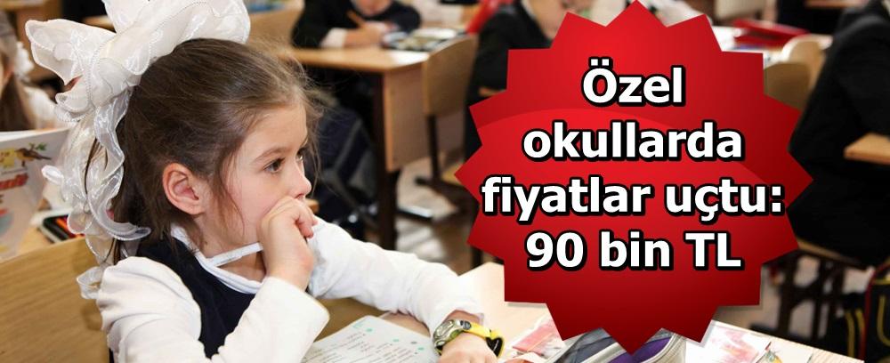 Özel okullarda fiyatlar uçtu: 90 bin TL