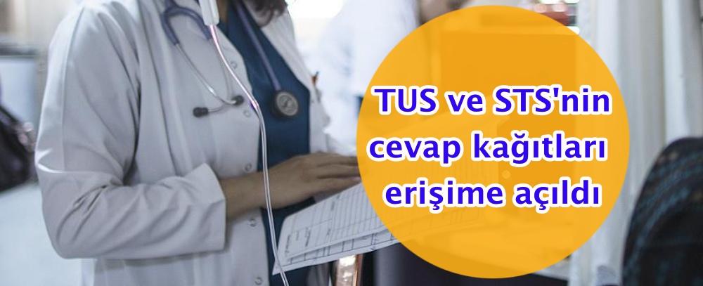 TUS ve STS'nin cevap kağıtları erişime açıldı