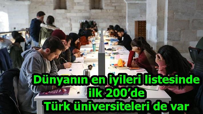 Dünyanın en iyileri listesinde ilk 200'de Türk üniversiteleri de var