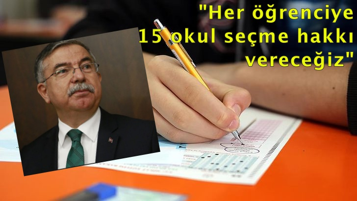 """Bakan Yılmaz'dan LGS açıklaması: """"Müfredat dışı hiçbir soru sorulmadı"""""""