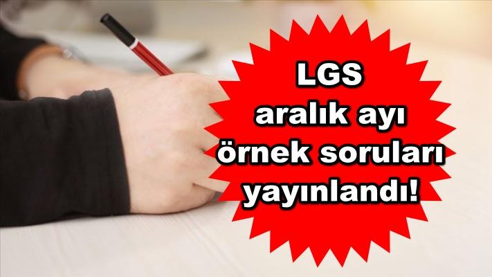 LGS aralık ayı örnek soruları yayınlandı!