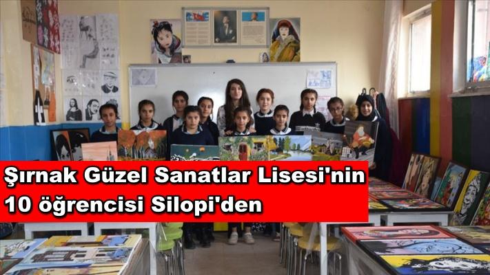 Şırnak Güzel Sanatlar Lisesi'nin 10 öğrencisi Silopi'den