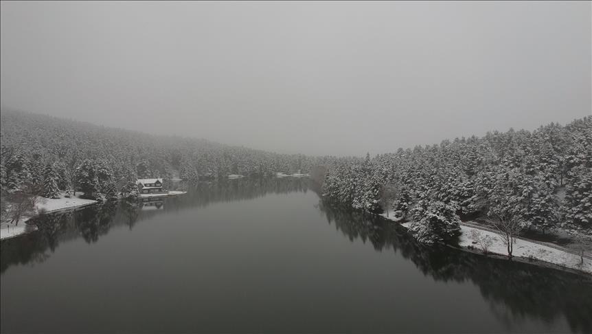 Bolu ve Kocaeli'de kar yağışı