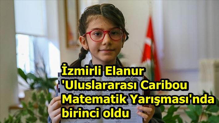 İzmirli Elanur 'Uluslararası Caribou Matematik Yarışması'nda birinci oldu