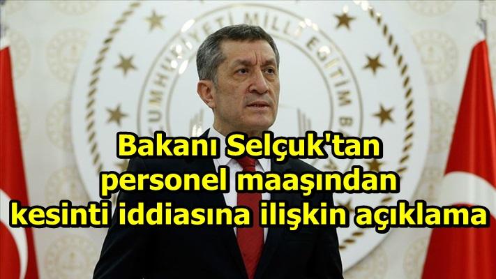 Selçuk'tan personel maaşından kesinti iddiasına ilişkin açıklama