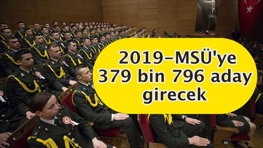 2019-MSÜ'ye 379 bin 796 aday girecek