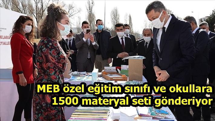 MEB özel eğitim sınıfı ve okullara 1500 materyal seti gönderiyor
