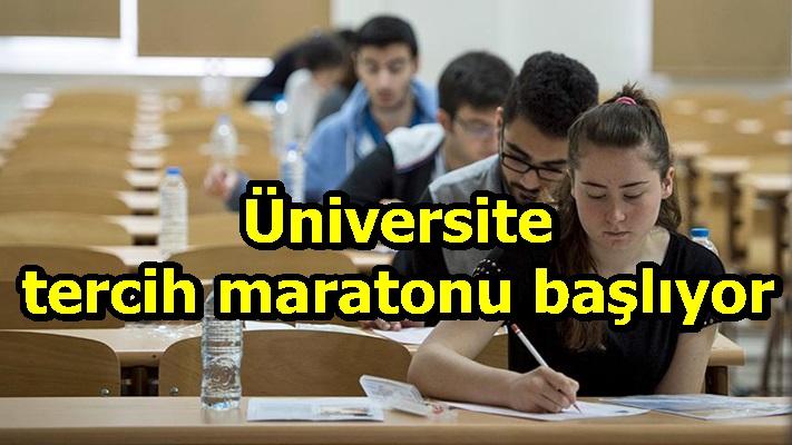 Üniversite tercih maratonu başlıyor