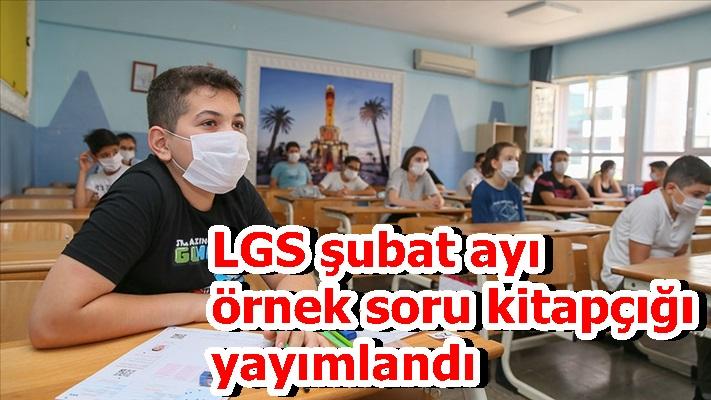 LGS şubat ayı örnek soru kitapçığı yayımlandı