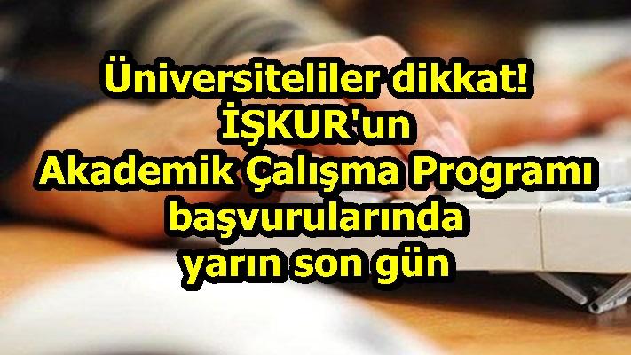 Üniversiteliler dikkat! İŞKUR'un Akademik Çalışma Programı başvurularında yarın son gün