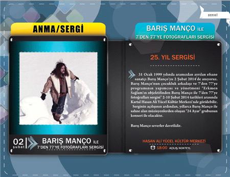 """BARIŞ MANÇO ANISINA """"7'DEN 77'YE FOTOĞRAFLARI"""" SERGİSİ 2 ŞUBAT'TA"""
