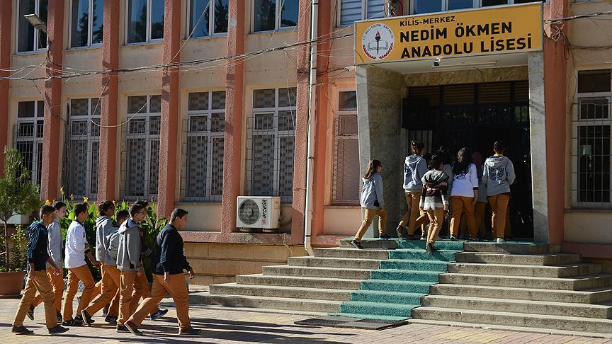 Kilis'te öğrenciler dersbaşı yapıyor