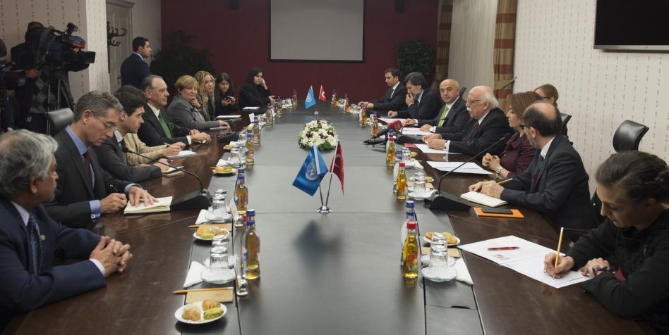 Bakan Avcı, BM Genel Sekreter Yardımcısı Eliasson'la buluştu