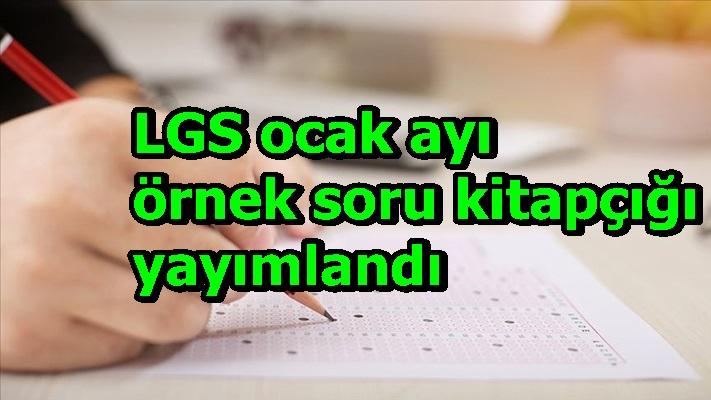 LGS ocak ayı örnek soru kitapçığı yayımlandı