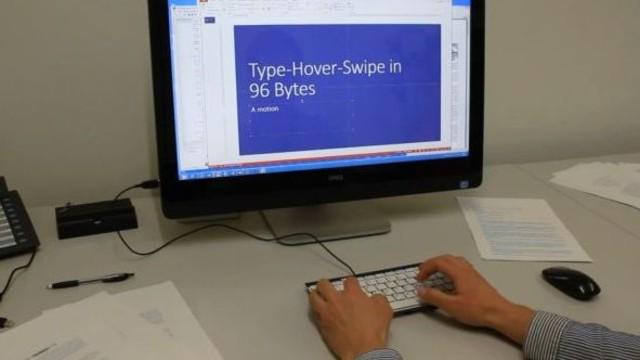 Microsoft'tan hareket sensörlü klavye
