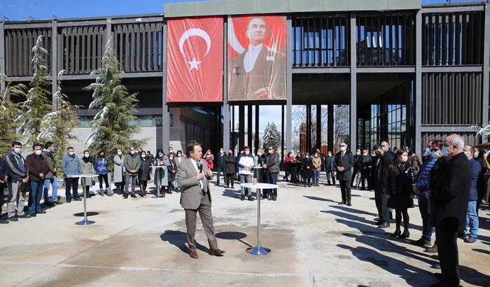 AGÜ Rektörü Sabuncuoğlu'na Veda Organizasyonu