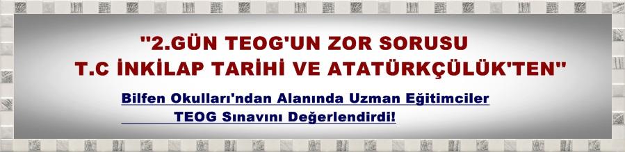 İkinci gün TEOG'un zor sorusu T.C. İnkilap Tarihi ve Atatürkçülük'ten