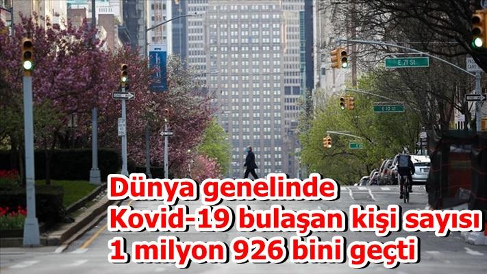Dünya genelinde Kovid-19 bulaşan kişi sayısı 1 milyon 926 bini geçti