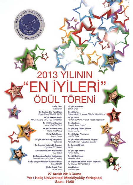 Haliç Üniversitesi Yılın En'leri Seçti