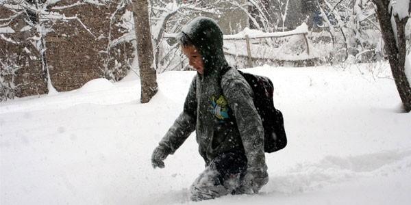 Samsun'da eğitime kar engeli