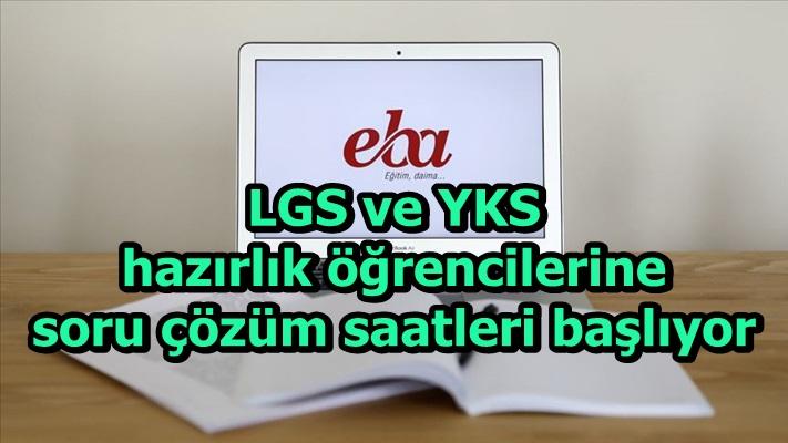 LGS ve YKS hazırlık öğrencilerine soru çözüm saatleri başlıyor
