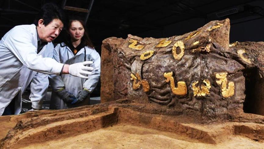 Çin'de Arkeologlar 2.500 Yıllık Bir Araba KalıntısıBuldu