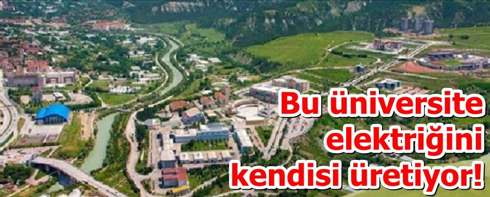 Bu üniversite elektriğini kendisi üretiyor