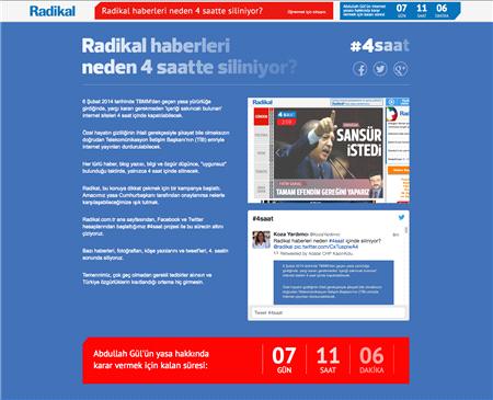 Radikal'den internet yasaklarına karşı kampanya!