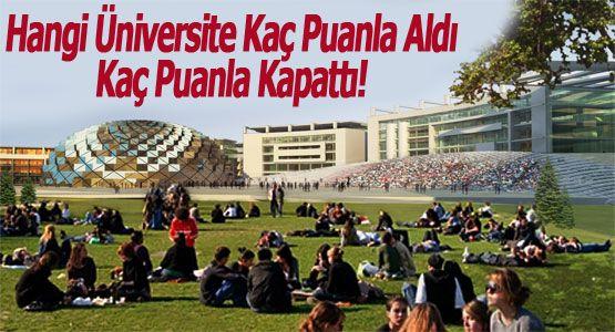 2014 Hangi Üniversite Kaç Puanla Aldı Kaç Puanla Kapattı