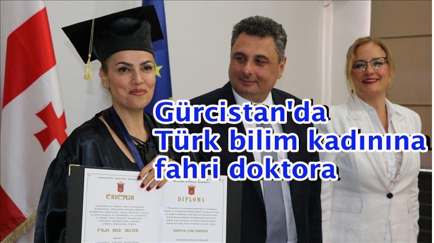 Gürcistan'da Türk bilim kadınına fahri doktora unvanı