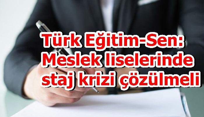 Türk Eğitim-Sen: Meslek liselerinde staj krizi çözülmeli