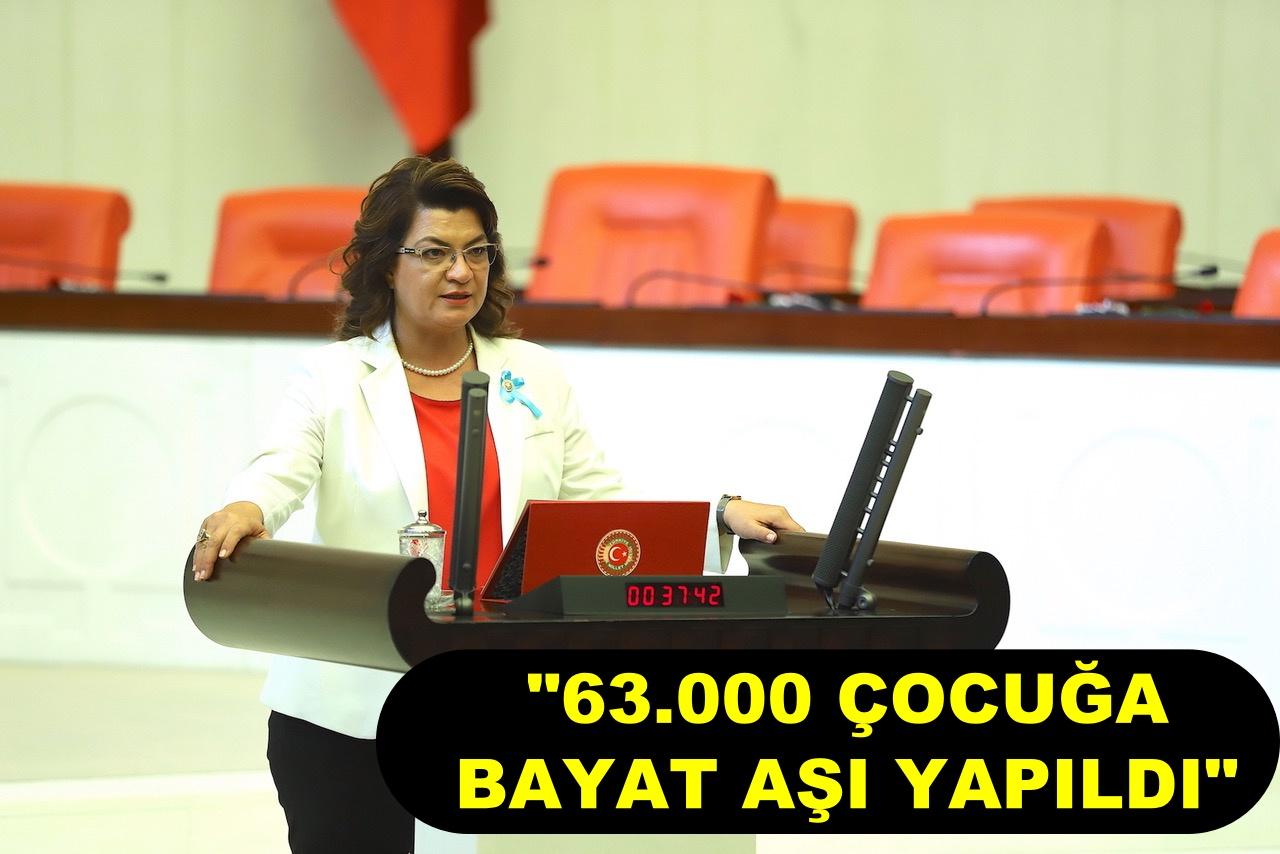"""""""63.000 ÇOCUĞA BAYAT AŞI YAPILDI"""""""