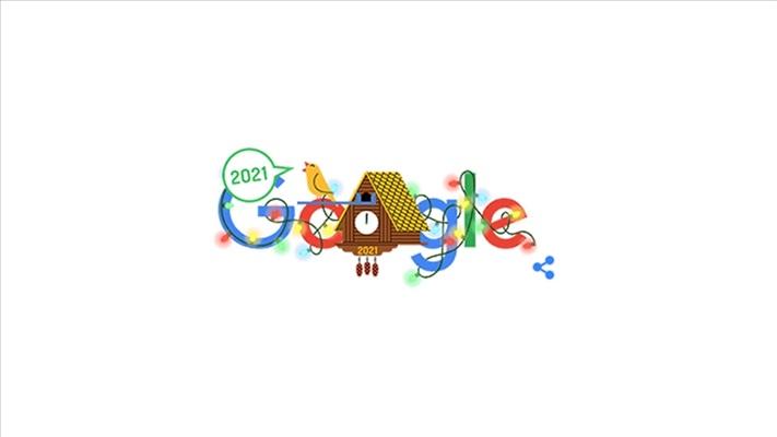 Google, yeni yılı 'doodle' ile kutladı