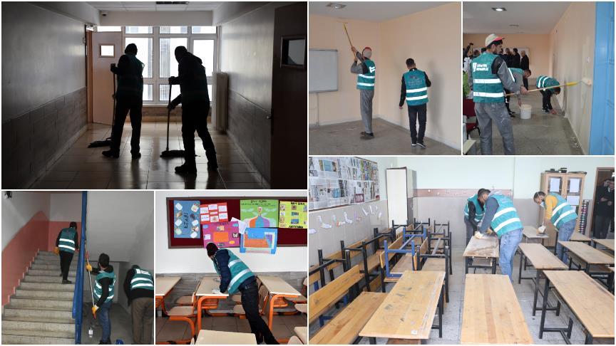 Cezaları 'okulları güzelleştirmek' oldu