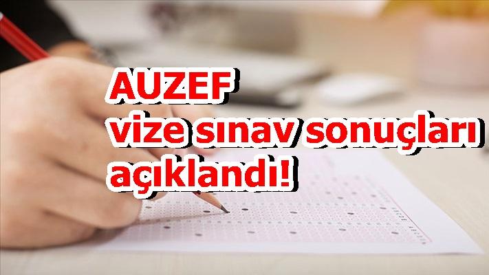 AUZEF vize sınav sonuçları açıklandı!