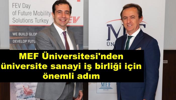 MEF Üniversitesi'nden üniversite sanayi iş birliği için önemli adım