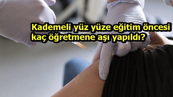 Kademeli yüz yüze eğitim öncesi kaç öğretmene aşı yapıldı?
