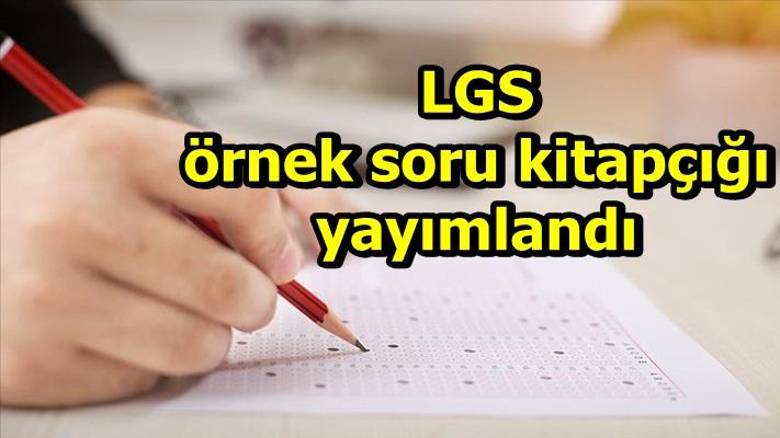 LGS örnek soru kitapçığı yayımlandı