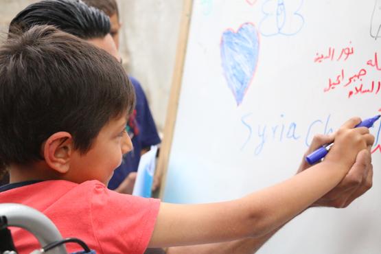 Suriye'de engelli çocuklara özel okul